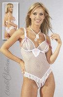 Body ouvert weiß/pink 85B/L