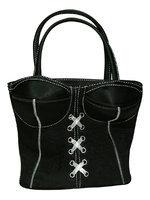 Geanta neagra corset