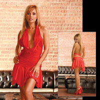 E L  Party Girl Dress red S L