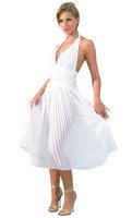 Plissee-Kleid weiß Gr. S