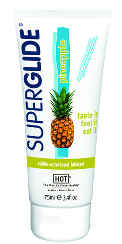 Lubrifiant lichid HOT Superglide waterbased pineapple 75ml