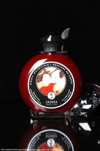 Shunga Sparkl Strawberry Wine Body Painting 100ml